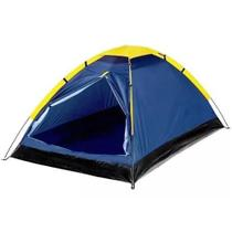 Barraca Camping 2 Lugares Porta Dupla c/ Bolsa  Azul IWBC2P Importway -