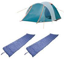 Barraca Camping Iglu Indy 3 Pessoas Nautika 152440 + 2 Colchonetes Leve e Resistente Camp Mat 252200 -