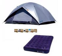 Barraca Camping Luna 5 Pessoas + Colchão Casal Inflável Mor -
