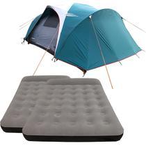 Barraca Camping Nautika Laredo até 9 Pessoas + 2 Colchões Casal Inflável Star -