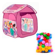 Barraca Casinha Princesas Disney Casa Portátil com 50 Bolinhas - Zippy Toys