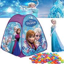barraca com 100 bolinhas frozen infantil dobravel menina 92x72 toca cabana casinha - Zippy