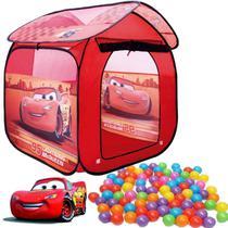 Barraca Com 50 Bolinhas Infantil Carros Relâmpago Mcqueen Casa Dobrável Menino Toca Toquinha Casinha 1b - Zippy Toys