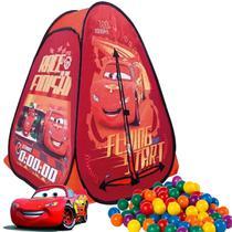 Barraca Com Bolinhas Carros Relampago Mcqueen Dobrável Menino Toca Toquinha Casinha 10b Infantil - Zippy Toys