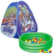 Barraca Com Bolinhas Dobrável Menino Herois Vingadores Azul Toca Casinha Infantil 10a Piscina 80 Litros - Zippy Toys