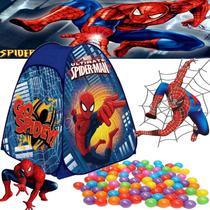 barraca com bolinhas homem aranha azul 92x72 infantil dobravel menino toca cabana - Zippy