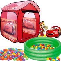 Barraca Com Bolinhas Infantil Carros Relâmpago Mcqueen Casa Dobrável Menino Toca 1b e Piscina Banheira 80 Litros - Zippy Toys