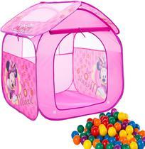 Barraca Com Bolinhas Infantil Toca Toquinha Minnie Rosa Casa Cabana Casinha Menina Dobrável - Zippy Toys