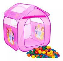 Barraca Com Bolinhas Infantil Toca Toquinha Princesa Cabana Casinha Menina Dobrável Rosa 1a - Zippy Toys