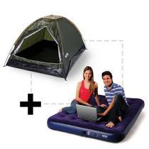 Barraca de Camping 2 Pessoas Verde com Colchão de Casal MOR -