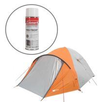 Barraca de Camping Katmandu 4 Pessoas Azteq + Impermeabilizante para Barracas Coleman -