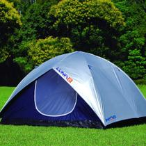 Barraca de Camping Mor Iglu Luna 6 Pessoas com Coluna Dagua de 800mm Sobreteto - Met. Mor