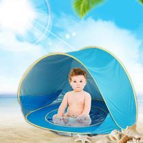 Barraca Infantil azul de Praia Dobrável Criança Bebê Piscina Tenda Proteção Sol -