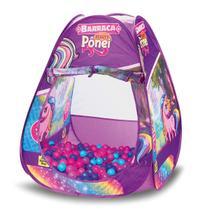 Barraca Infantil Beauty Pônei C/ 50 Bolinhas Toquinha Tenda - Samba Toys