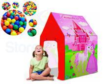 Barraca Infantil Castelo Encantado Rosa C/100 Bolas Piscina De Bolinha - Bang Toys
