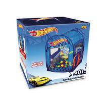 Barraca Infantil com 50 Bolinhas Hot Wheels Azul - Fun -