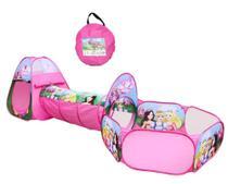 Barraca infantil com tunel e cercadinho tenda cabaninha 3 em 1 casinha princesa toca cabana menina - Gimp