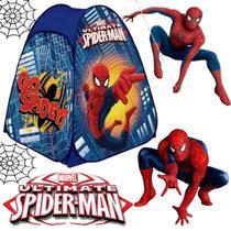 barraca infantil dobravel menino homem aranha azul 92x72 toca cabana - Zippy