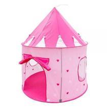 Barraca Infantil dobrável Portátil Castelo Princesas Rosa Meninas Grande Bolsa - Dm Toys