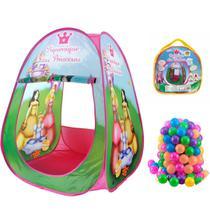 Barraca Infantil Dobrável Tenda Cabana Menina + 50 Bolinhas - Sonho De Criança