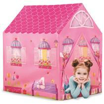 Barraca Infantil Juvenil Menina Tenda Casinha Fácil Montagem - DMT 5654 - Dm toys