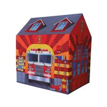 Barraca Infantil Menino Tenda Cabana Bombeiro Grande 105 Cm - Dm Toys