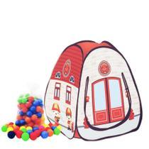 Barraca infantil Pop Bombeiro com 50 bolinhas coloridas - Natalplast