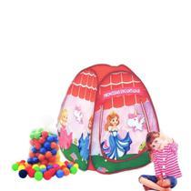 Barraca infantil Pop Princesas Encantadas com 50 bolinhas coloridas - Natalplast