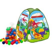 Barraca infantil Pop Up Dinossauro com 100 bolinhas coloridas - Natalplast