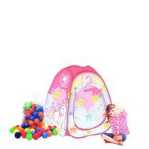 Barraca infantil Pop Up Unicórnio com 100 bolinhas coloridas - Natalplast