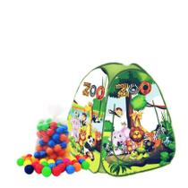 Barraca infantil Pop Up Zoológico com 100 bolinhas coloridas - Natalplast