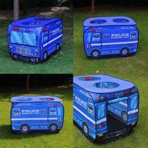 Barraca Infantil Portátil Carro de Polícia Viatura Azul Art brink - Artbrink