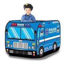 Barraca Infantil Portátil Carro De Polícia Viatura Azul Artbrink - Art brink