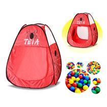 Barraca infantil spider 50 bolinhas com bolsa menino radicais - Samba Toys