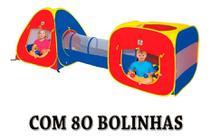 Barraca Infantil Toca 3 Em 1 Tenda Cabana + 80 Bolinhas - Braskit
