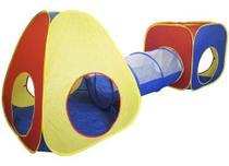 Barraca Infantil Toca Túnel 3x1 Dobrável 3 Em 1 Tenda Cabana BW-066 - Importway