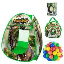Barraca Menino Dinosauro Rex C/ 50 Bolinhas + Ovo Surpresa - Sonho De Criança