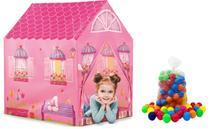 Barraca Minha Casinha Rosa Com 50 Bolinhas Meninas - Dm Toys