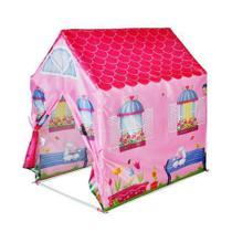 Barraca Minha Casinha Tenda Cabana Infantil Menina Rosa Toca Dm Toys DMT5652 -