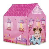 Barraca Minha Casinha Tenda Toca Cabana Infantil Menina Rosa - Dm Toys