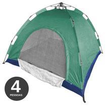 Barraca Monta Sozinha Automatica 4 Lugares Acampar Camping Verde e Azul - Braslu