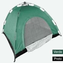 Barraca Monta Sozinha Automatica 4 Lugares Acampar Camping Verde e Preto - Braslu