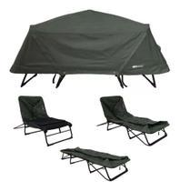 Barraca Ntk Camping Cama Tatu Casal 4 Em 1 Cadeira Esteira - Nautika