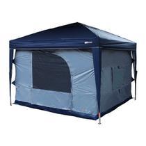 Barraca para Gazebo Camping Transform Azul 3x3 5/6 Pessoas Nautika -