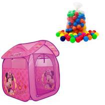 Barraca Portátil Cabana Tenda Infantil  Disney minnie com 150 bolinhas - Zippytoys
