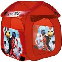 Barraca Portátil Casa Ladybug Miraculos Cat Noir Zippy Toys -