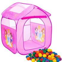 Barraca Portátil Casa Toca Infantil Princesas Disney Com 25 Bolinhas - Zippy Toys -