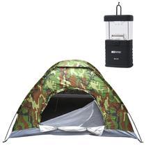 Barraca Rotony 3P Camuflada + Mini Lampião a Pilha Talino Nautika 11 LEDs -