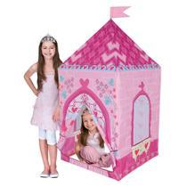 Barraca Tenda Castelo da Princesa Love - Casinha Rosa Menina - Dm Toys