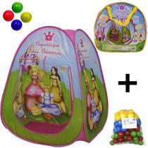 Barraca Toca Infantil + 50 Bolinhas Piquenique Princesas - Dm